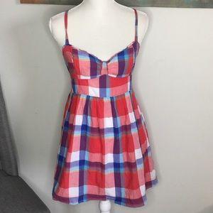 Hollister checkered mini dress size M